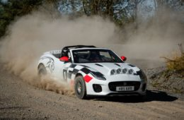 Jaguar F-Type Convertible Rally car