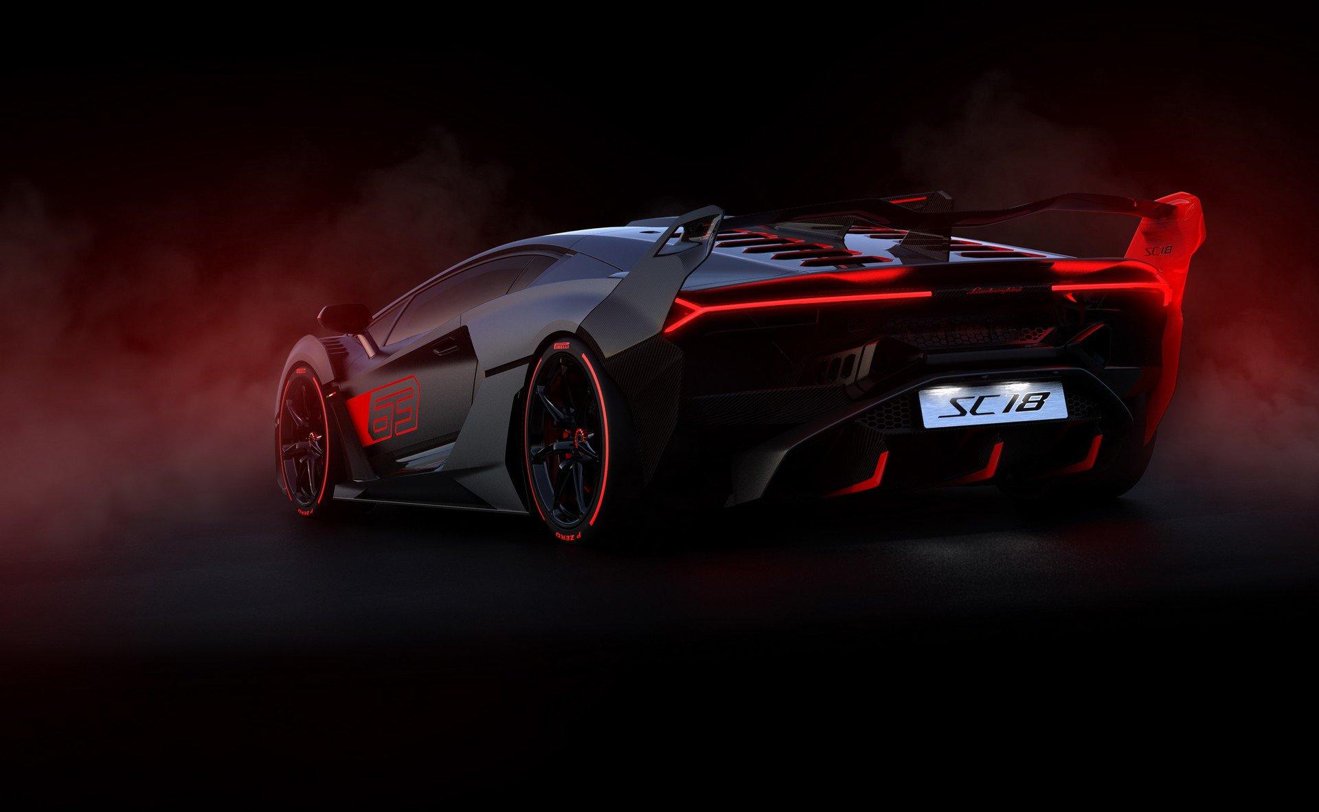 Lamborghini SC18 taillights