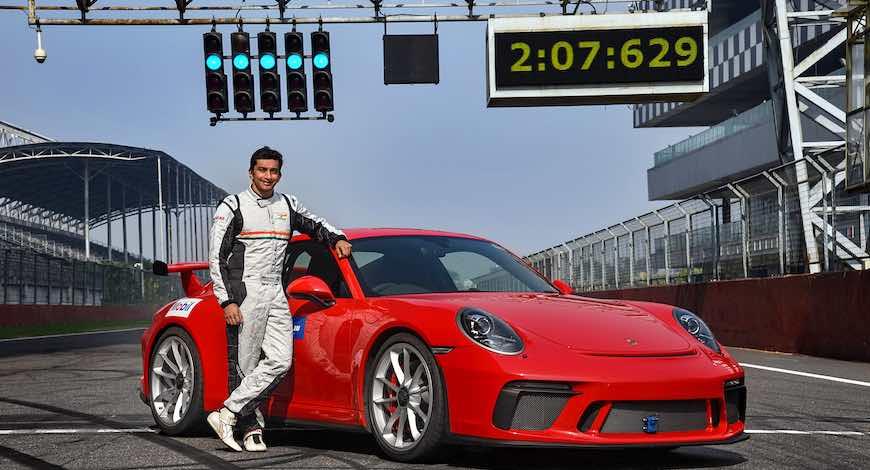 Porsche 911 GT3 Buddh International circuit record