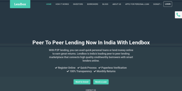 Lendbox raises Rs 6 Cr