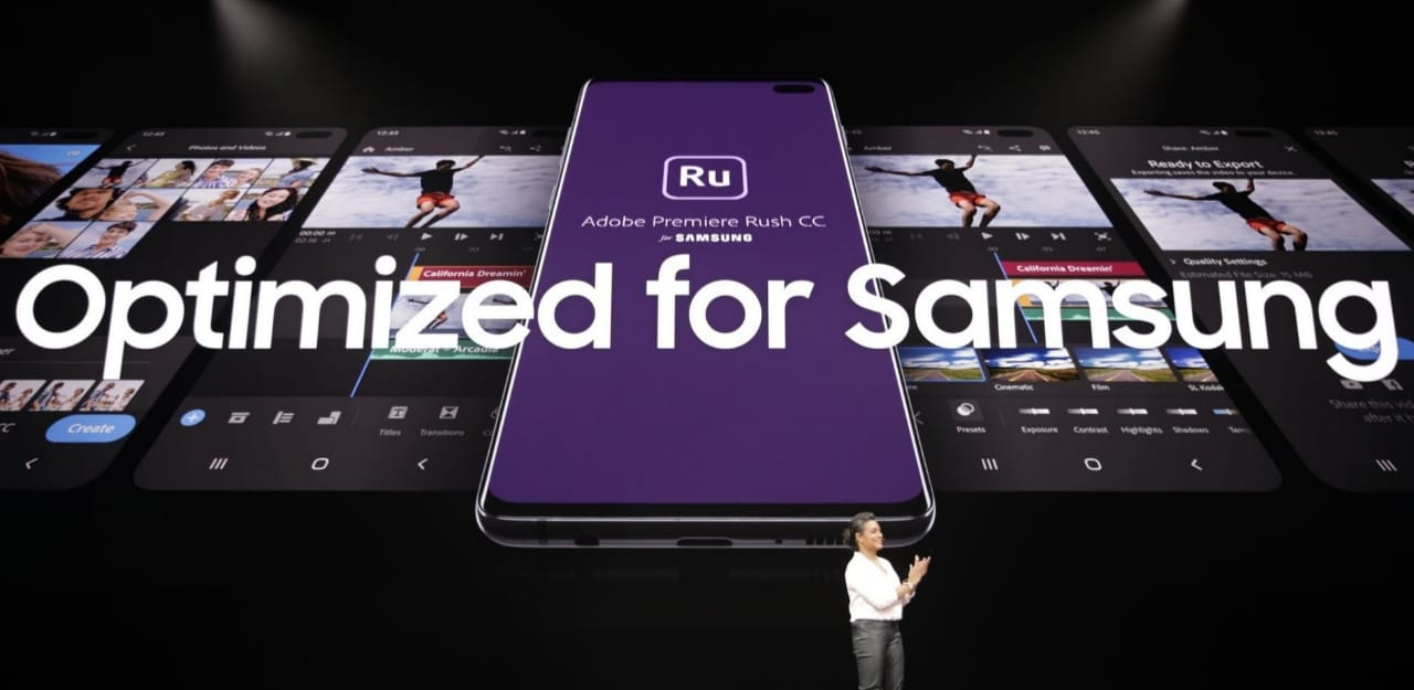Samsung Galaxy S10 Adobe Premiere Rush