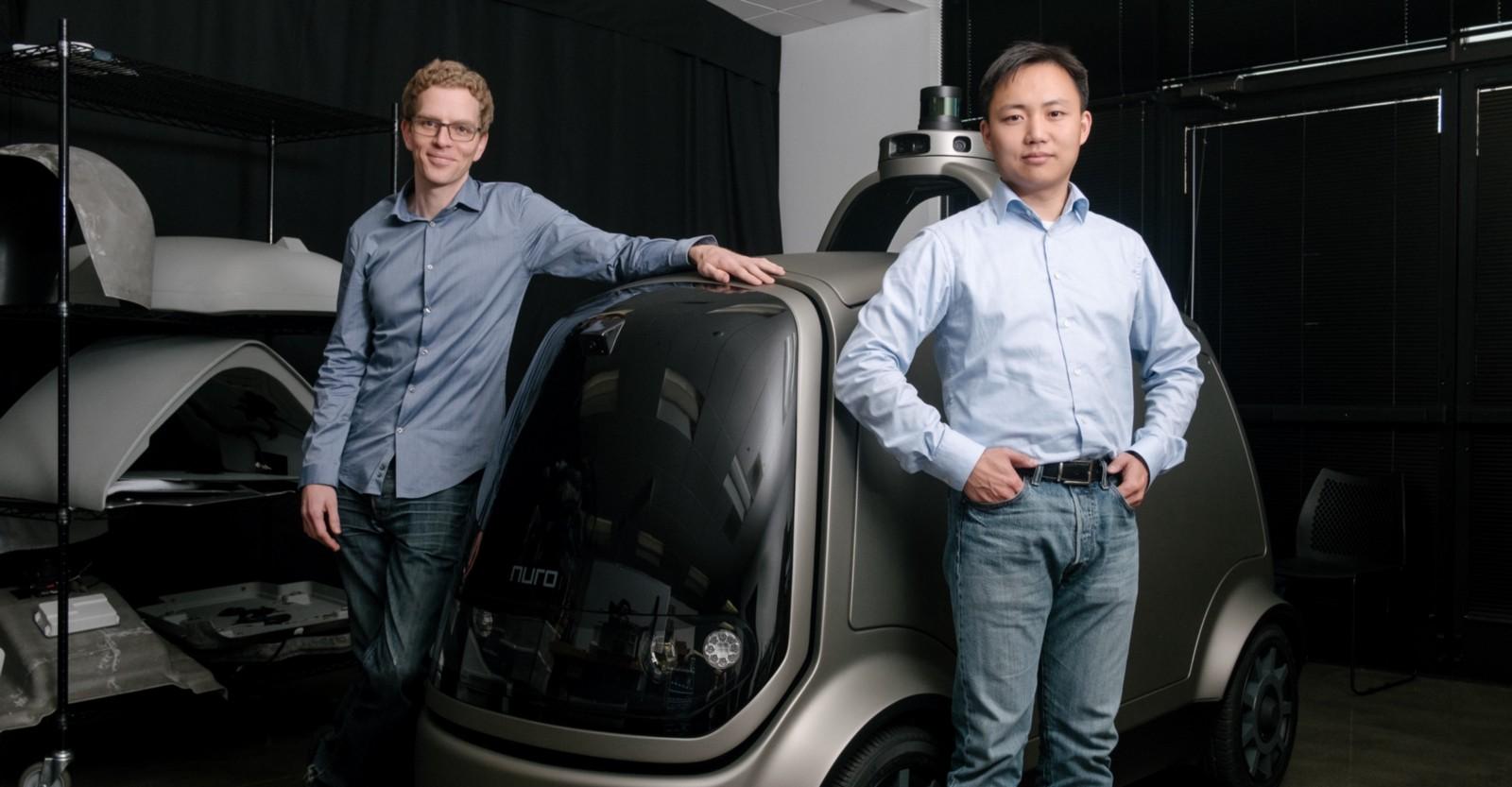 Nuro Co-founders: Dave Ferguson and Jiajun Zhu.