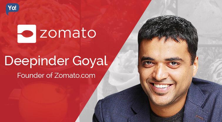 Zomato Founder- Deepinder Goyal