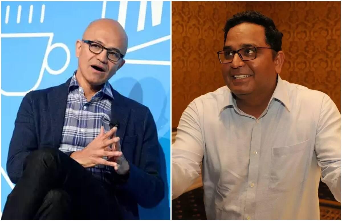 Satya Nadella and Vijay Shekhar Sharma