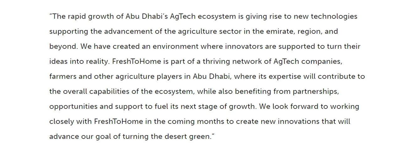 Dr Tariq Bin Hendi, Director General of Abu Dhabi Investment Office mentions