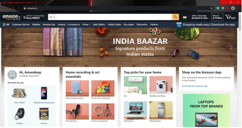 Amazon locate Orders