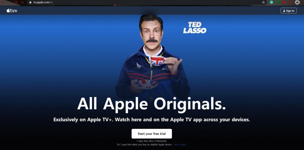 Apple TV+ on windows