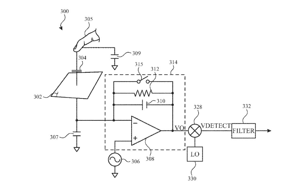 Detail from the patent showing a new finger scanner