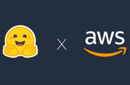 AWS and Hugging face logo