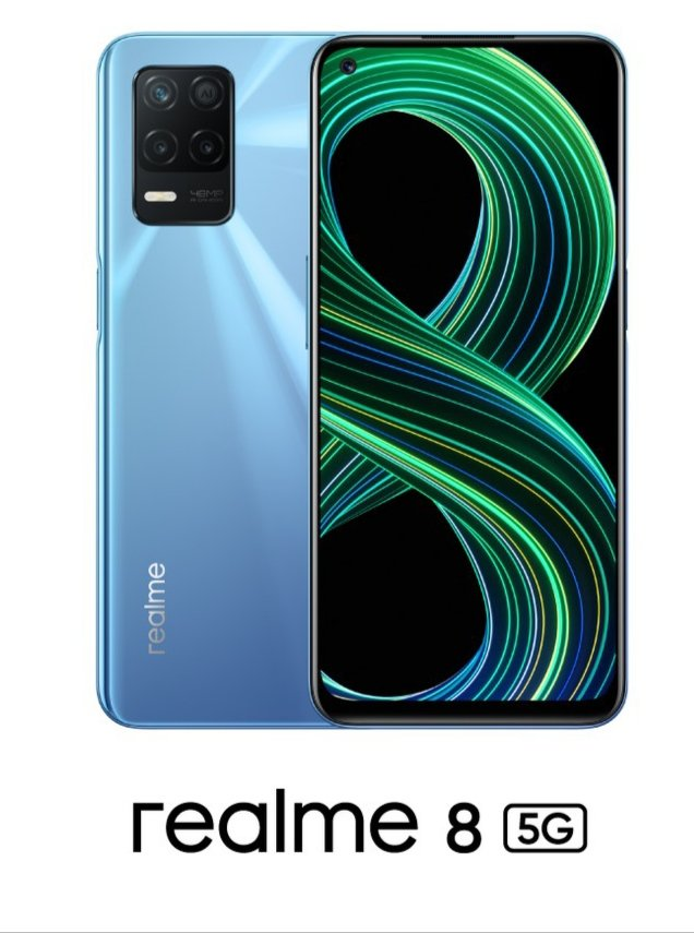 Realme 8 5G - Official Look In Supersonic Blue Colour