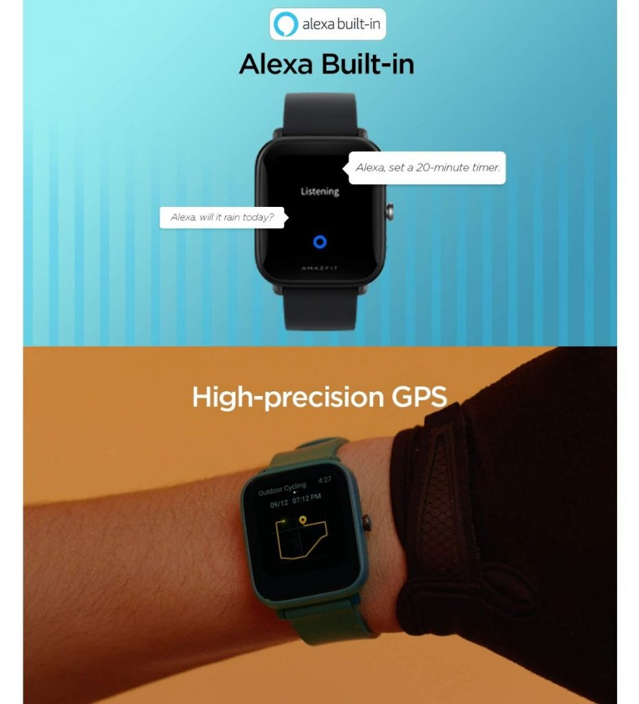Amazfit Bip U Pro – Capabilities Of Amazon's Alexa Voice Assistant Are Installed In GPS With Exception Of SpO2 Tracking And 60+ Sports Modes
