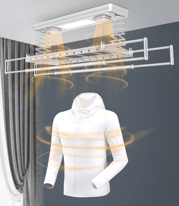 Electric Clothes Drying Rack Device With UV Sterilization