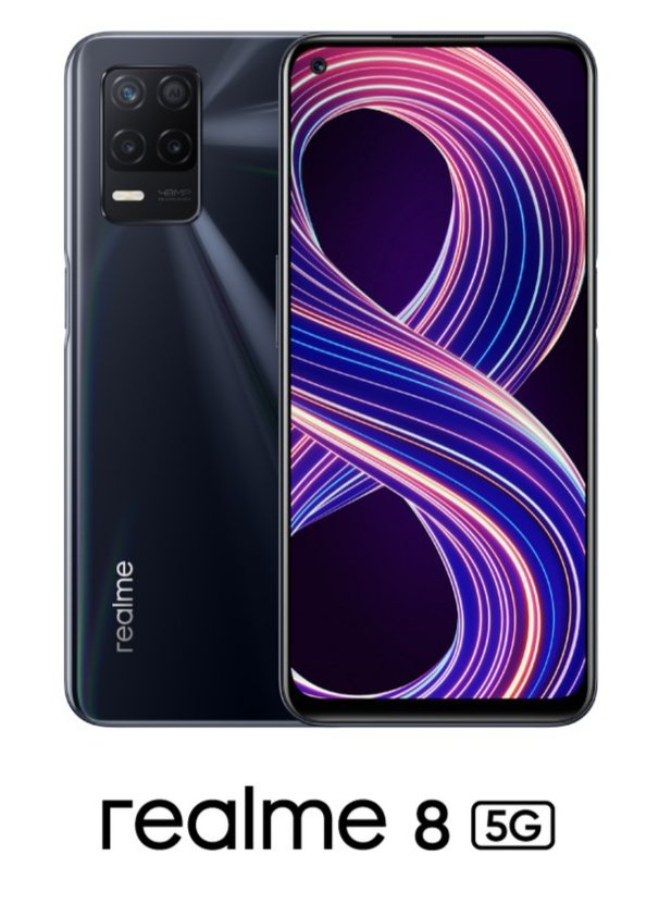 Realme 8 5G - Official Look In Supersonic Black Colour