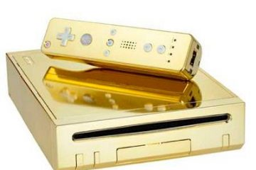 24K Gold Nintendo Wii