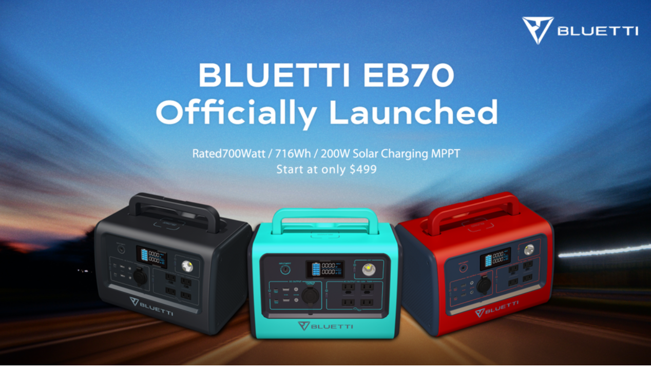 All New Bluetti EB70 700W Power Station Goes For Its First Sale For The Price Of $399
