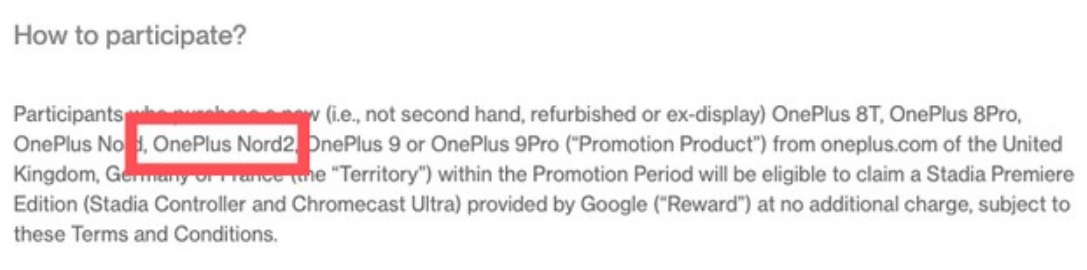 OnePlus Nord 2 - Spotted On Its Official Website Listing
