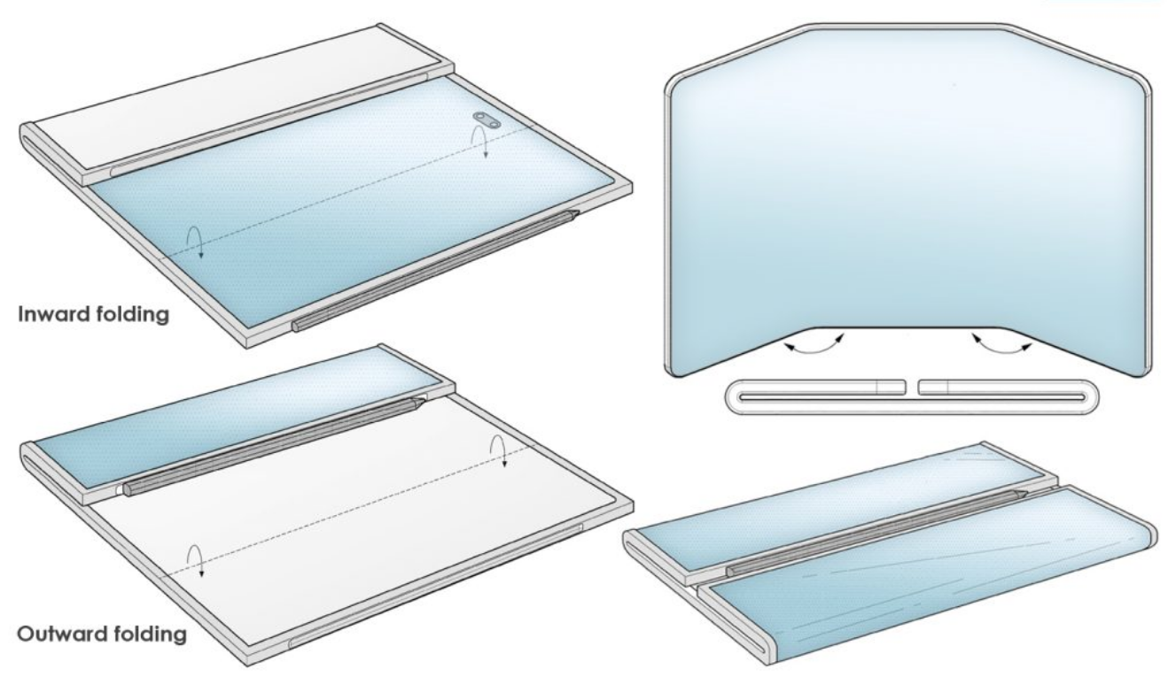 New Patents For Upcoming Samsung Galaxy Z Fold Tab Shows A Tri-Fold Design