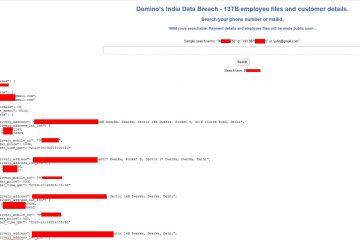 Dominos Data Leak