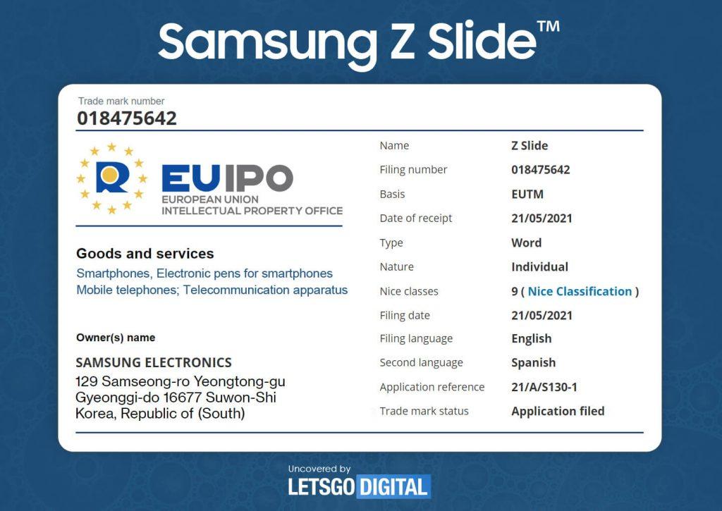 Samsung Z Slide Moniker