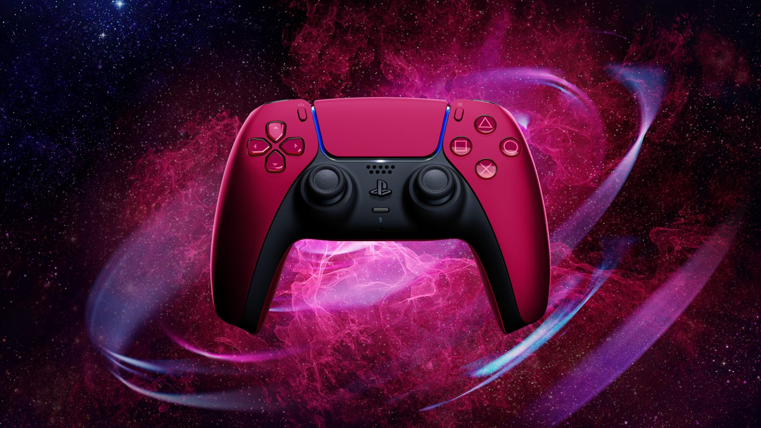 Sony's New Matte Black & Cosmic Red DualSense PlayStation 5 Controllers