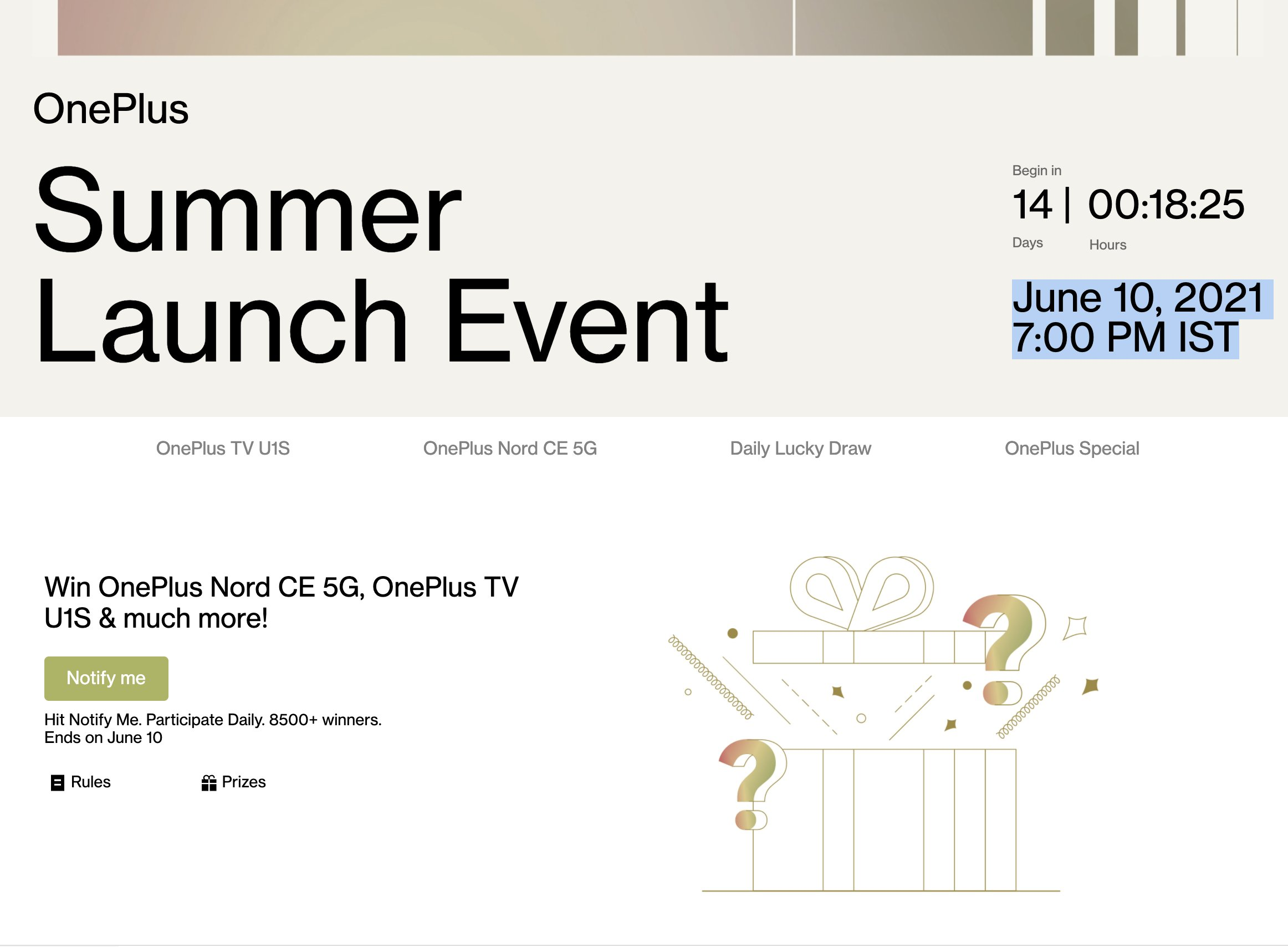 OnePlus Summer Launch Event For OnePlus Nord CE Launch
