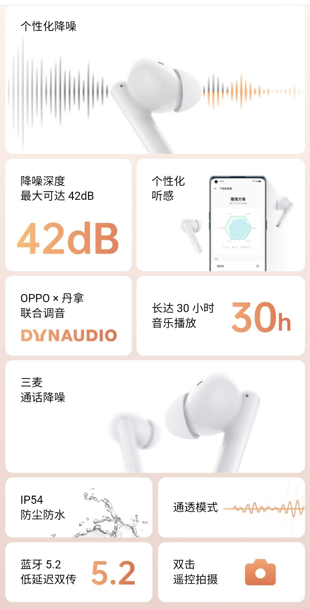 Oppo Enco Free 2 TWS Earbuds – Complete Details On New Design, ANC & DYNAUDIO Specification