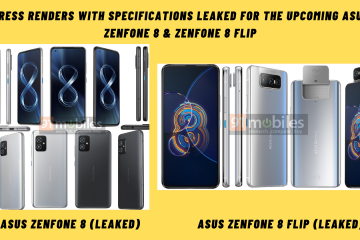 Press Renders With Specifications Leaked For The Upcoming Asus ZenFone 8 & ZenFone 8 Flip