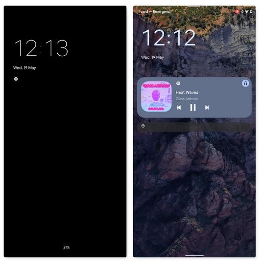 New Redesigned Lock Screen