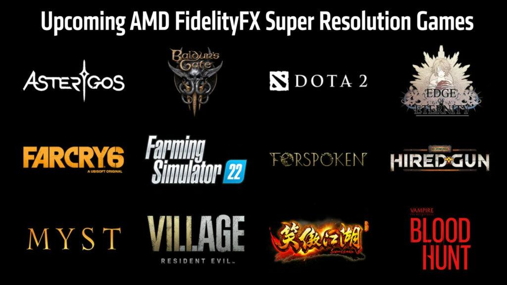 AMD FSR GAMES