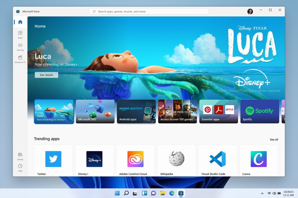 Android apps in Windows 11 via Amazon Appstore