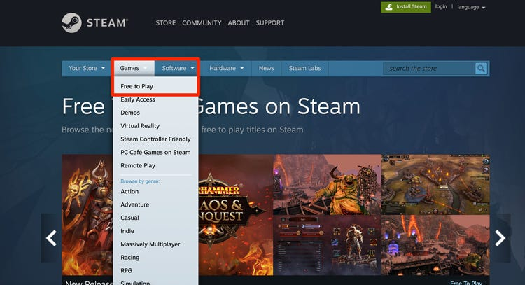 Free Games Available On Steam