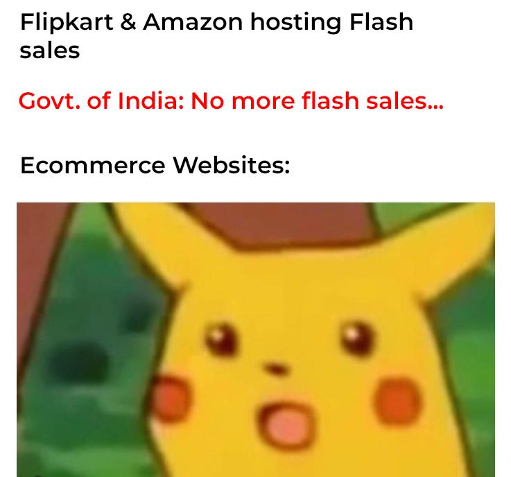 Meme No more 'flash sales'