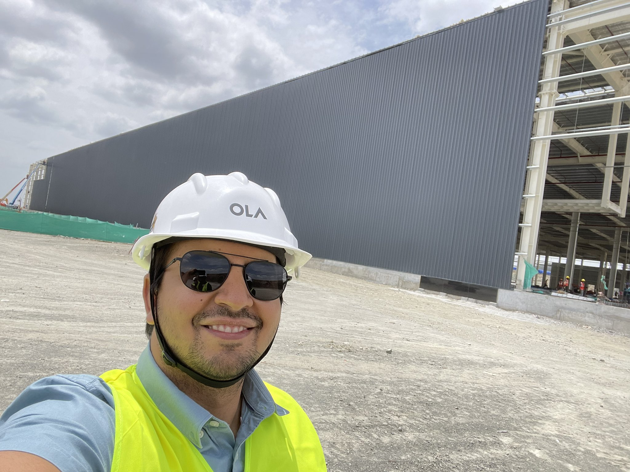Bhavish Aggarwal, Ola Group, co-founder and CEO, recently tweeted a picture of the company's massive Futurefactory