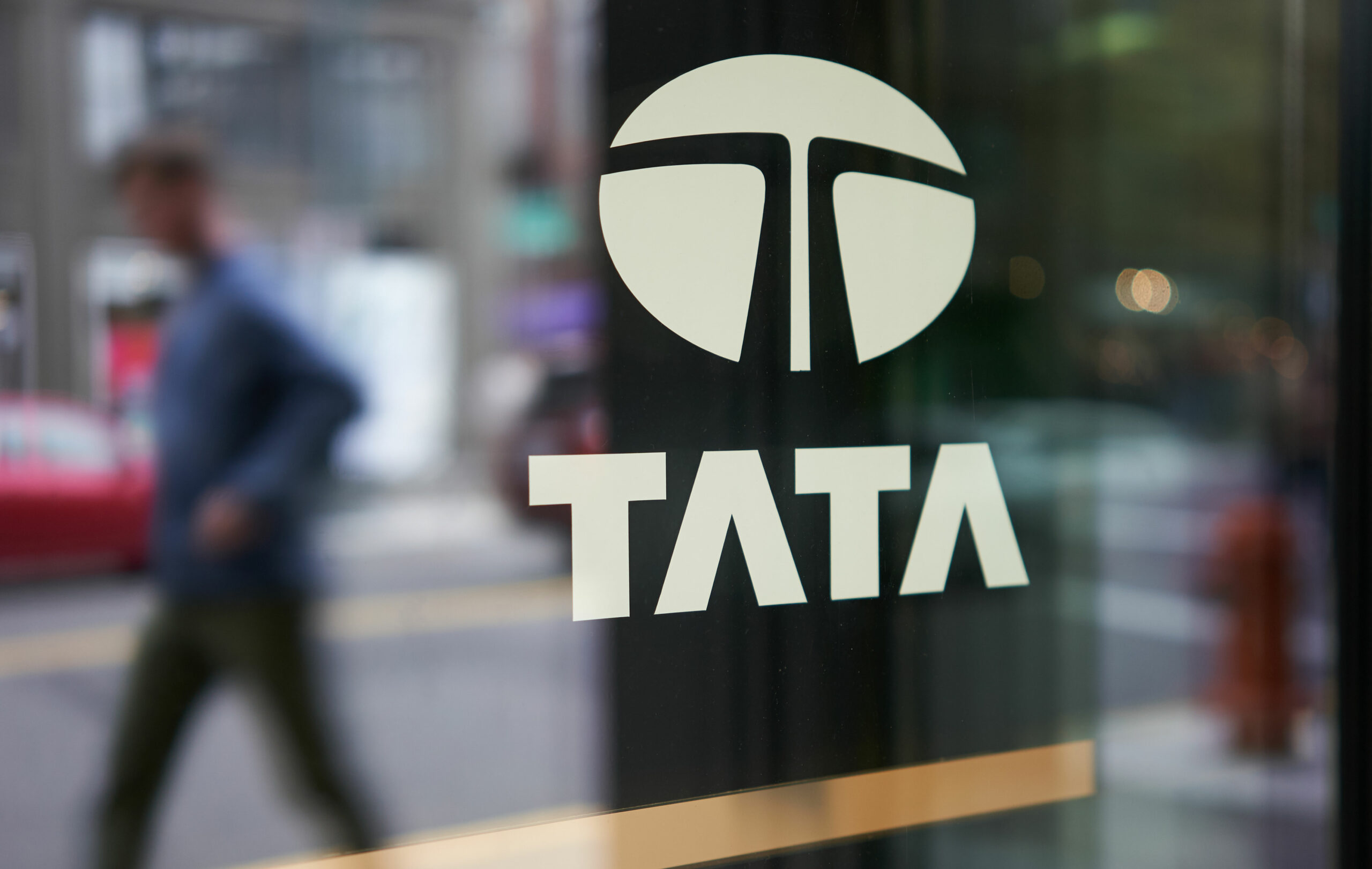 Tata logo on Glass