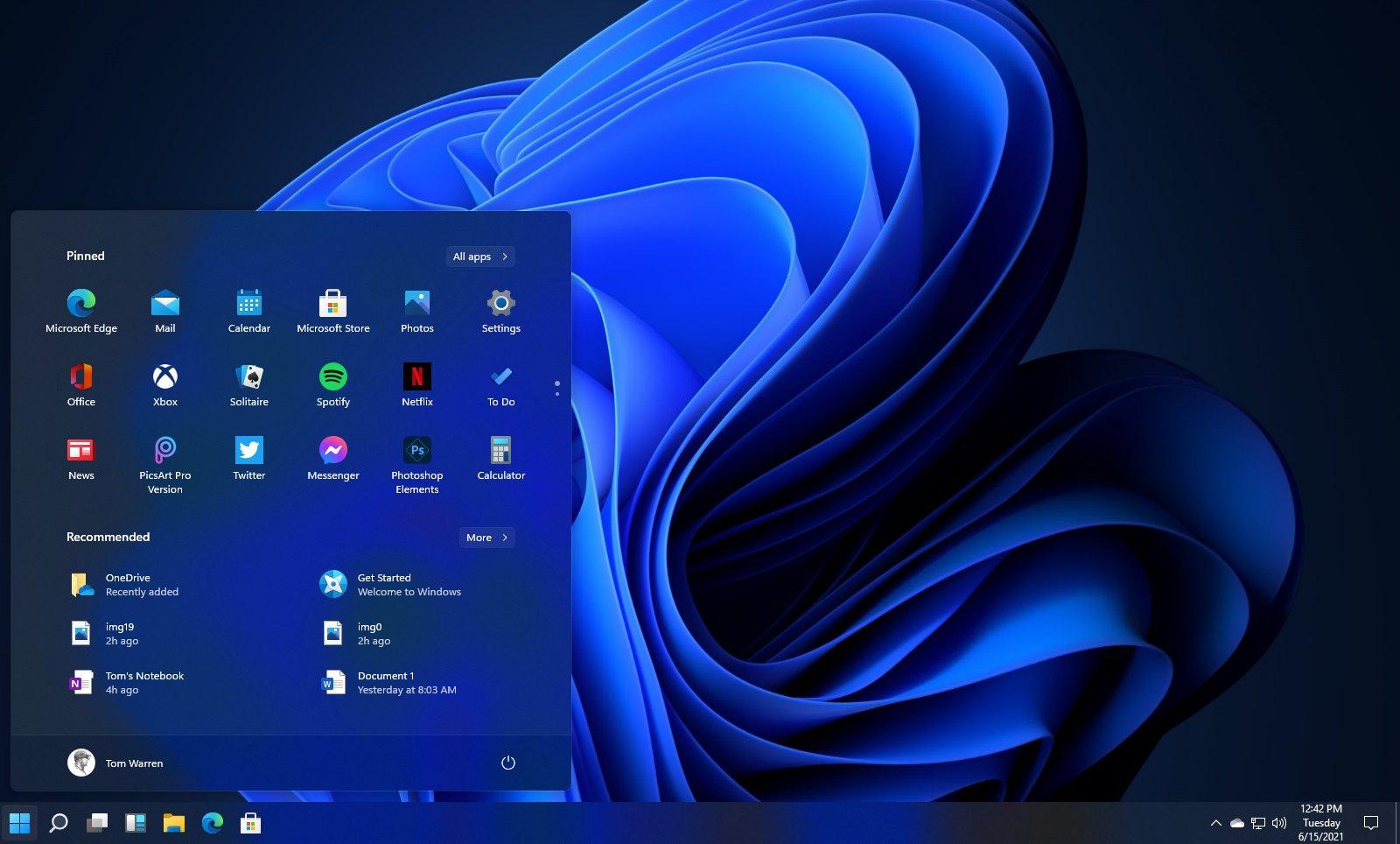 Revamped UI And New Start Menu In Windows 11