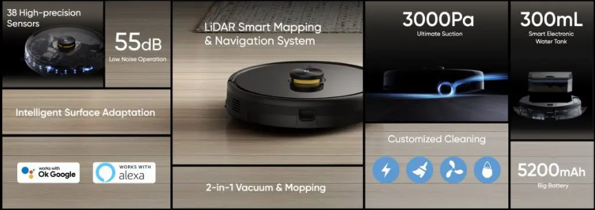Realme TechLife Robot Vaccum Cleaner – Details On Features