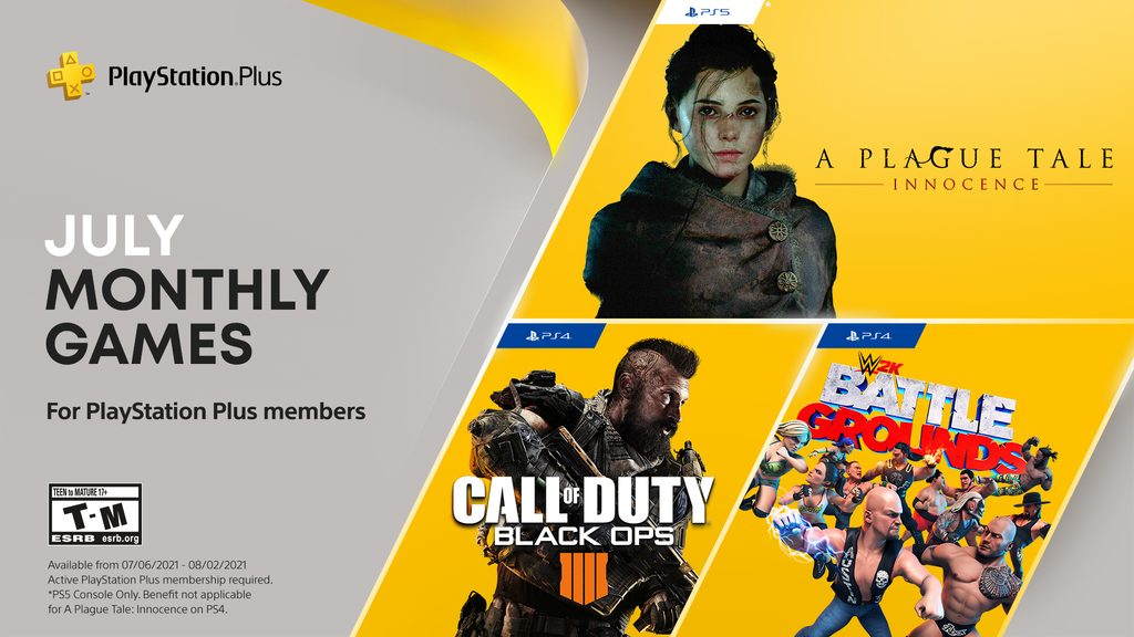 PS Plus July 2021 Free Games