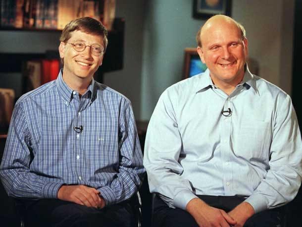 Steve Ballmer with Bill Gates
