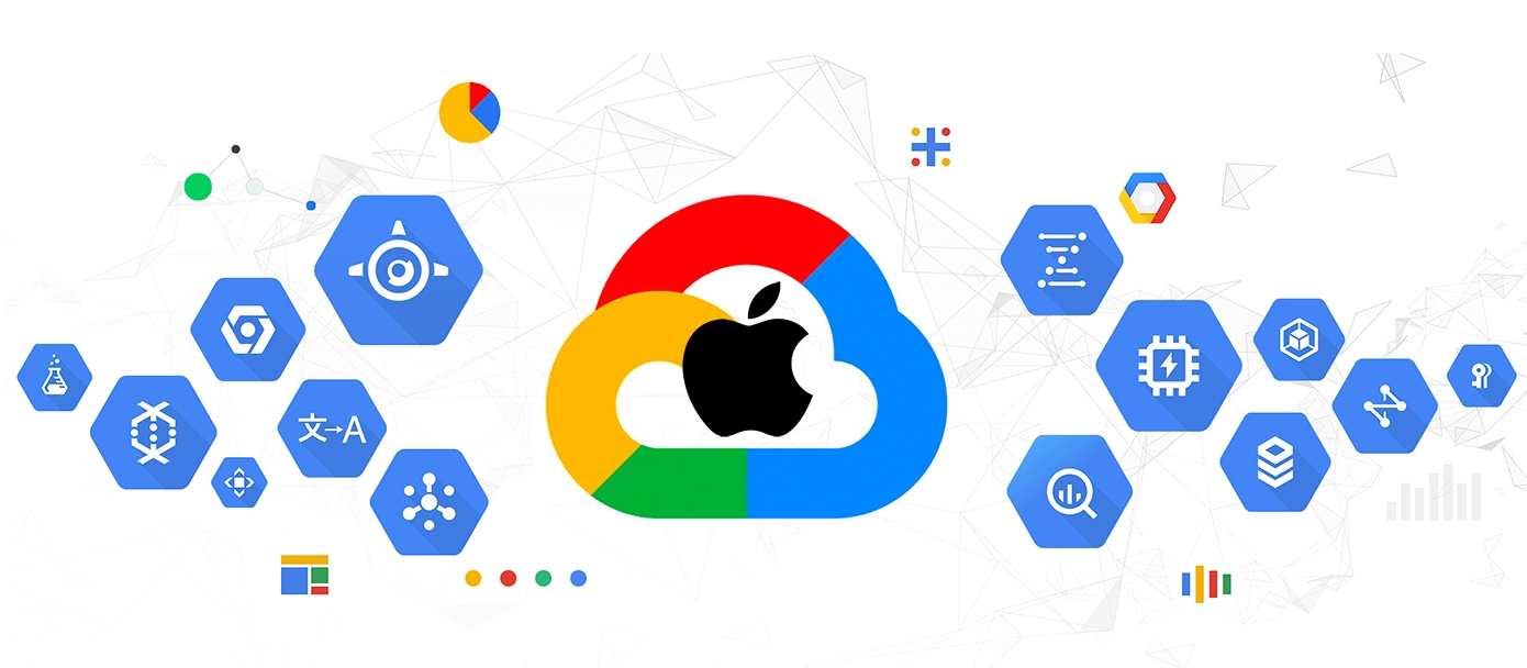 Apple Google Cloud logo