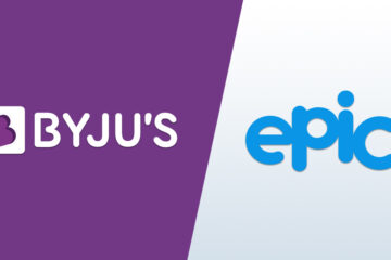 BYJUS and Epic logo