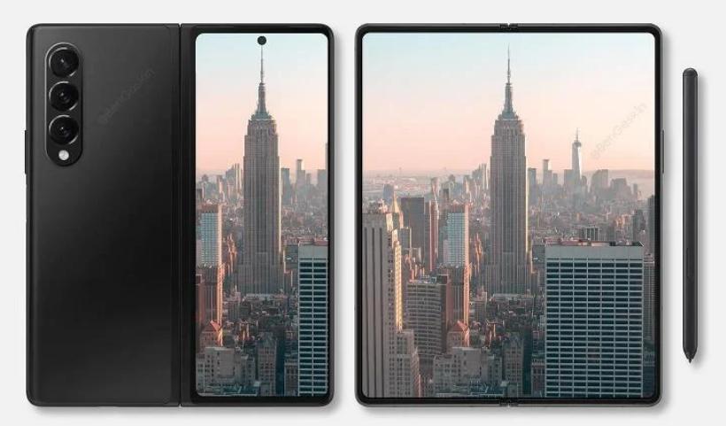 Samsung Galaxy Z Fold 3 new renders