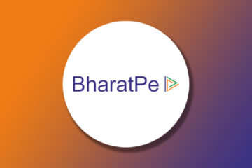 BharatPe Logo on top of a circle with a gradient background