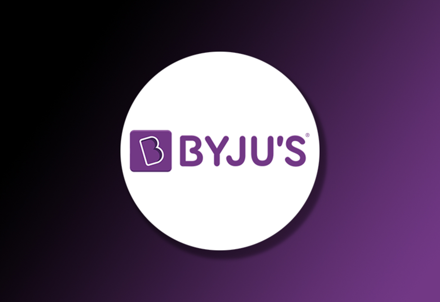 Byju's logo on a Gradient Background