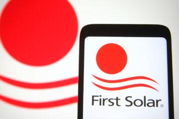 First Solar Inc Logo on a Smartphone