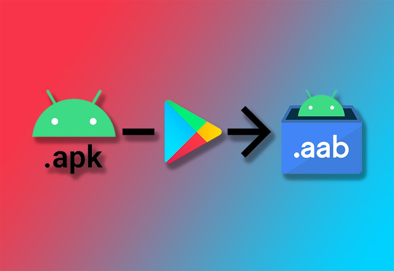 APK, Google Play, AAB logos