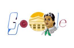 Kadambini Ganguly's 160th Birthday Doodle