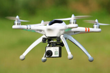 Drone with GoPro camera in Air