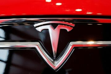 Tesla Motors Logo on Its Electric Car