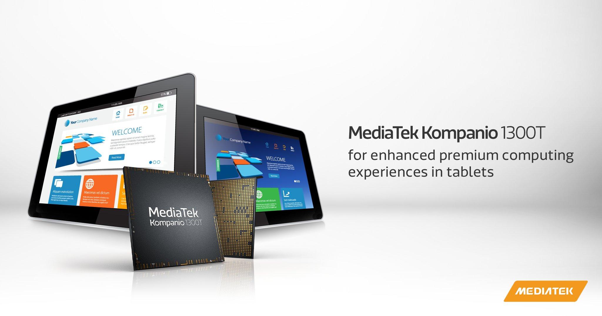 MediaTek Kompanio 1300T designed & developed to bring 5G support to Tablets & Chromebooks