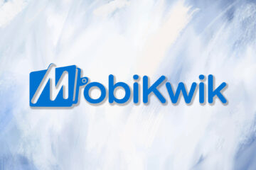 Mobikwik Logo on watercolor abstract background
